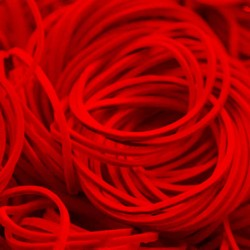 Elastici Pro Tat Bright Red 100 pz
