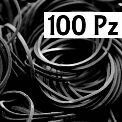 Elastici Pro Tat neri 100 pz
