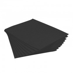 tovaglietta politenata assorbente colore nero