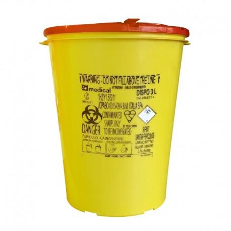 contenitore plastica rifiuti taglienti speciali tatuaggio 3 litri