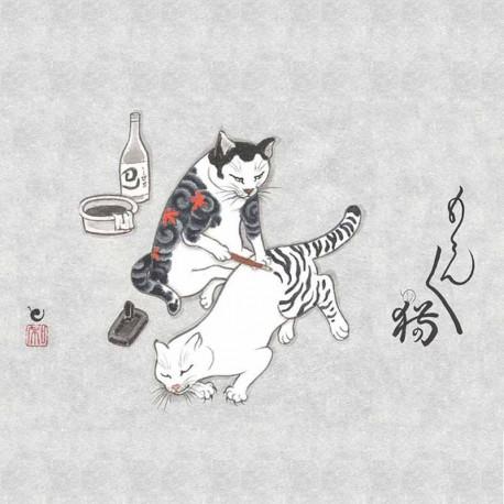 libro tatuaggio monmon cats horitomo kazuaki kitamura tattoo book