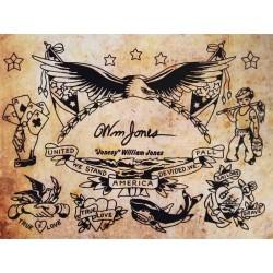 """Vintage Flash Book, 1940s Tattoos – William """"Jonesy"""" Jones"""