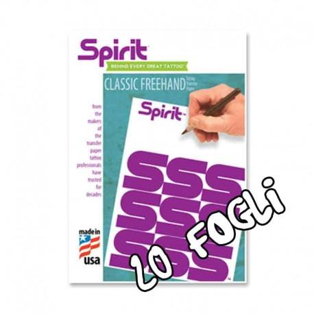 carta ectografica copiativa spirit tattoo stencil freehand manuale 20 fogli