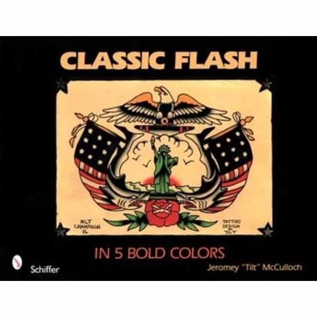 libro tatuaggio classic flash in 5 bold colors jeromey tilt mcculloch tattoo book
