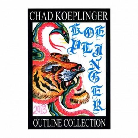 libro tatuaggio outline collection chad koeplinger tattoo book