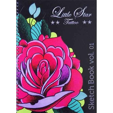 libro tatuaggio little star sketchbook volume 1 claudio comite tattoo book