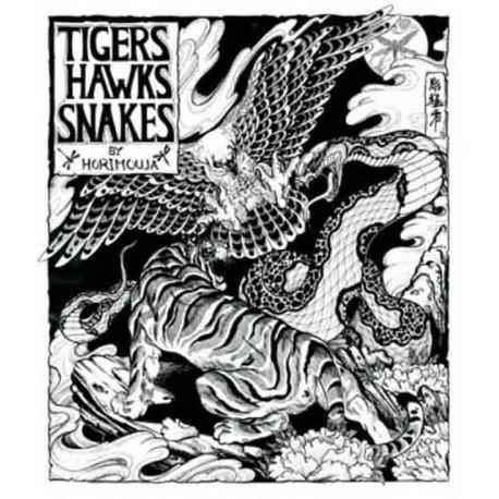 libro tatuaggio tigers hawks snakes jack mosher horimouja tattoo book