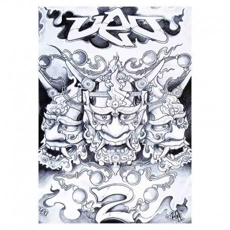 libro tatuaggio japanese sketchbook volume 2 a3 ueo tattoo book