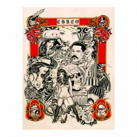 libro tatuaggio chicano sketchbook chuco tattoo book