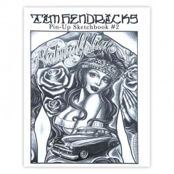 libro tatuaggio pin up sketchbook tim hendrix tattoo book
