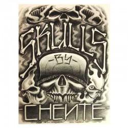 libro tatuaggio skulls chente tattoo book