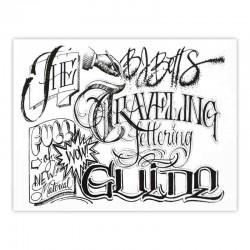 libro tatuaggio traveling lettering guide bj betts tattoo book