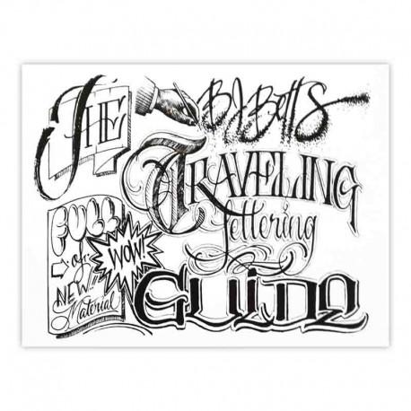 libro tatuaggio traveling lettering guide bj betts tattoo book