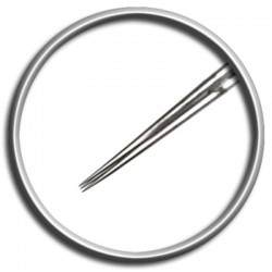 Aghi per tatuaggio Magic Moon 03 RL 0,25 LT - 3 round liner long taper tattoo needles
