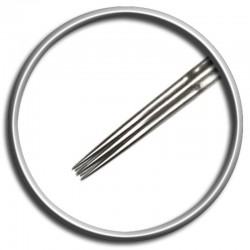 Aghi per tatuaggio Magic Moon 07 SRL 0,35 MT - 7 straight round liner medium taper tattoo needles