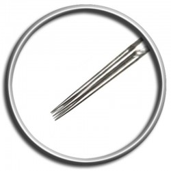 Aghi per tatuaggio Magic Moon 05 SRL 0,35 MT - 5 straight round liner medium taper tattoo needles