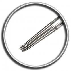 Aghi per tatuaggio Magic Moon 09 SRL 0,35 LT - 9 straight round liner long taper tattoo needles