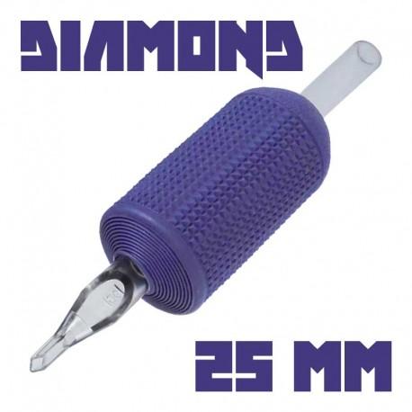"tattoo grip tatuaggio nova 14 diamond 25 mm (1"") monouso tip trasparente"