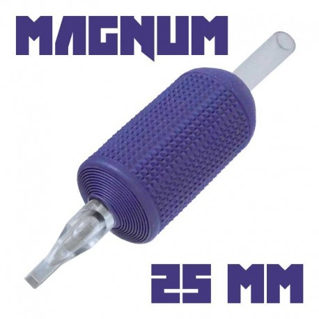 "tattoo grip tatuaggio nova 13 magnum 25 mm (1"") monouso tip trasparente"