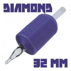 "tattoo grip tatuaggio nova 14 diamond 32 mm (1,25"") monouso tip trasparente"