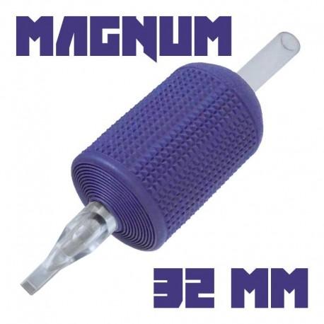 "tattoo grip tatuaggio nova 13 magnum 32 mm (1,25"") monouso tip trasparente"