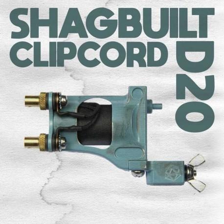 shagbuilt d20 tattoo machine clip cord blue supply