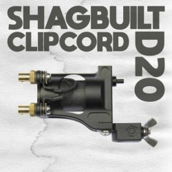 shagbuilt d20 tattoo machine clip cord black