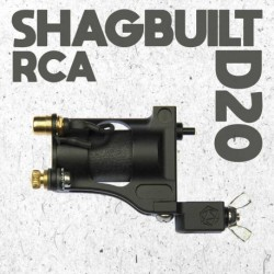 shagbuilt d20 tattoo machine rca black