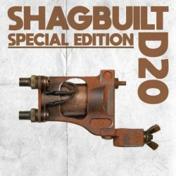 shagbuilt d20 tattoo machine special edition clip cord scorched earth