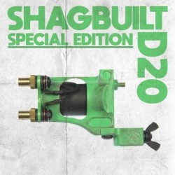 shagbuilt d20 tattoo machine special edition clip cord venom green