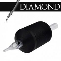 "Tattoo grip 09 Diamond - 1,25"" (30 mm) Clear Black"