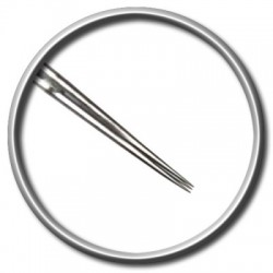ago per tatuaggio magic moon 3 rl round liner 0,40 long taper tattoo needle