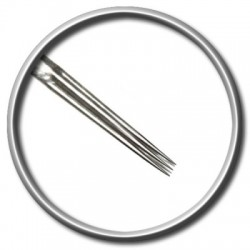 ago per tatuaggio magic moon 5 srl straight round liner 0,35 medium taper tattoo needle