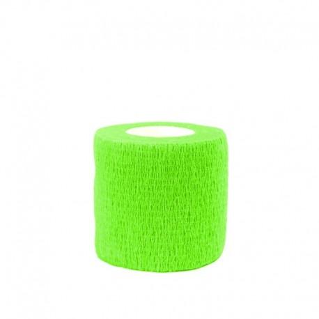 benda elastica coesiva tattoo grip tatuaggio autoaderente fascia neon green