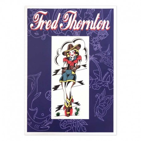 fred thornton traditional old school tattoo book cover