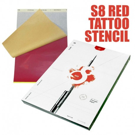 S8 Red Stencil Paper 100