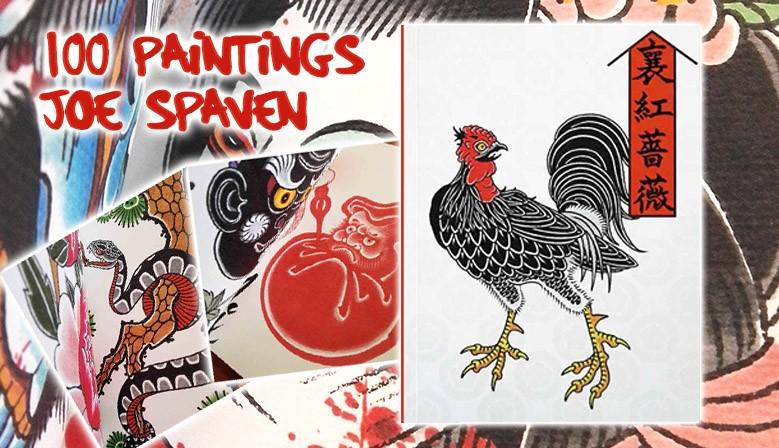 slideshow libro tatuaggio 100 paintings by joe spaven tattoo book