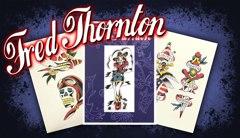 slideshow fred thornton traditional tattoo book